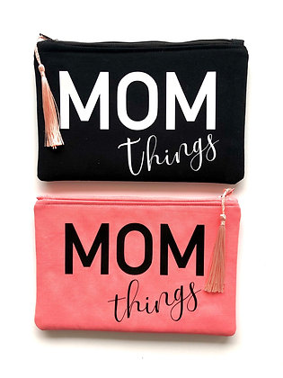 Mom Things Small Zipper Pouch