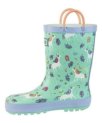 OAKI unicorn rubber boot