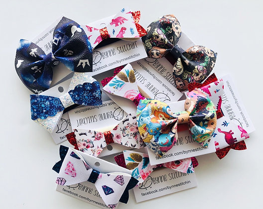 Leather Bow Headbands (faux)
