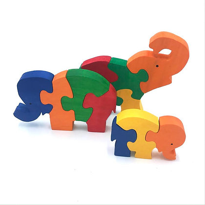 Elephant Family puzzle set