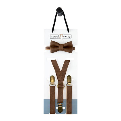 Leather Suspender Set
