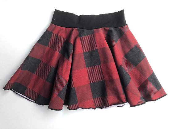 Buffalo Plaid Circle Skirt