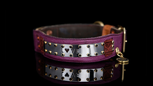 Love Collar - Purple Leather