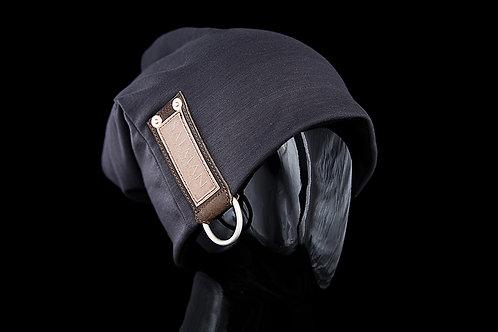 Dark Grey SALMAN™, Brown Leather D-ring