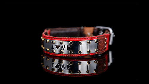 Love Collar - Red Leather
