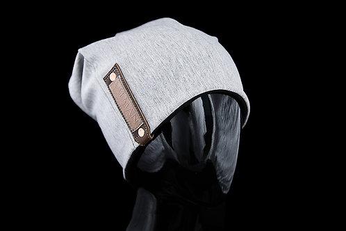 Light Grey Alfonso SALMAN™, Brown Leather, Lamb