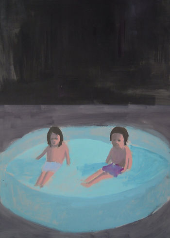 autumn, art, swimming pool