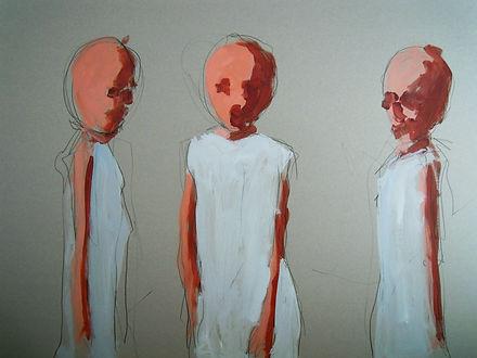 figures, oil painting, artist, children