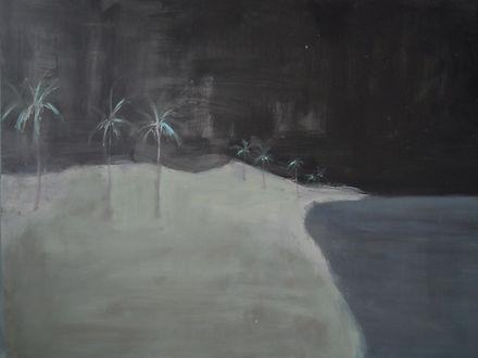 palm trees, island