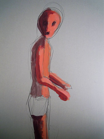 figure, lonely, art, oil paintng