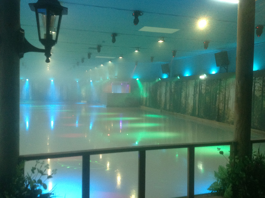 SHINY FLOOR- WHAT A SKATE RINK!!!