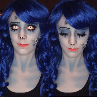 Emily (Corpse Bride) Costume Makeup