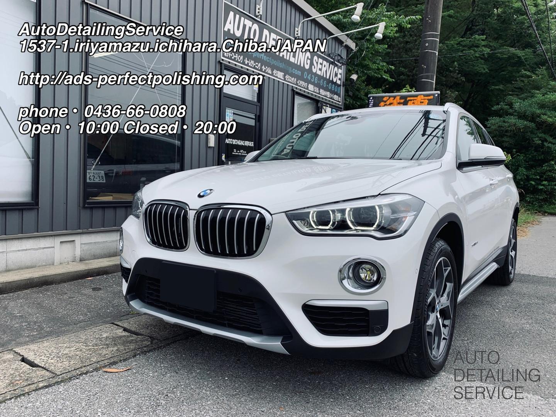BMW X1 18i プレミアムガラスコーティング・ホイールコーティング施工