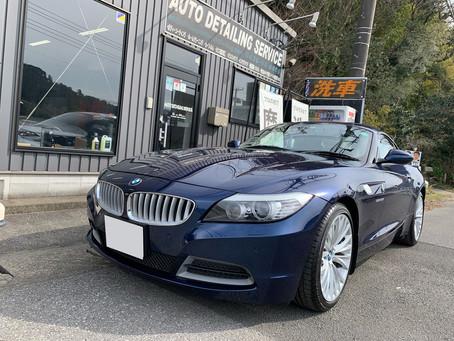 BMW Z4 グロスライドガラスコーティング施工