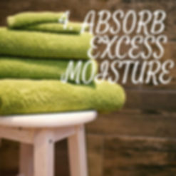 Absorb excess moisture in any area of your home as fast as possible. A pool of water is a mold spores playground.