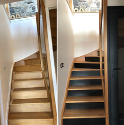 Peindre les contres marches d'un escalier