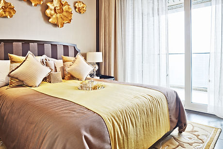 現代のベッドルーム