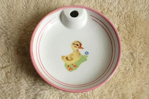 Assiette en porcelaine canard