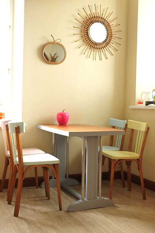 Table de bistrot rénovée