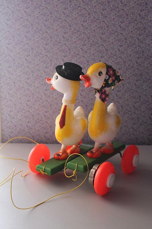 Couple de canards à tirer Educalux
