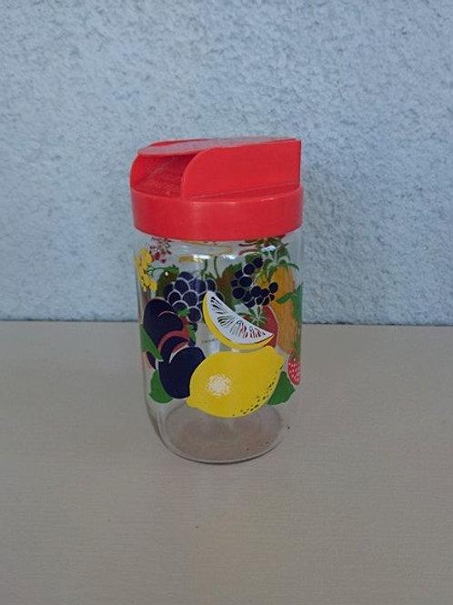 Pot à décor de fruits