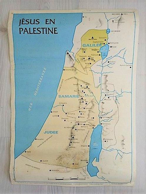 """Affichette d'école privée """"Jésus en Palestine"""""""