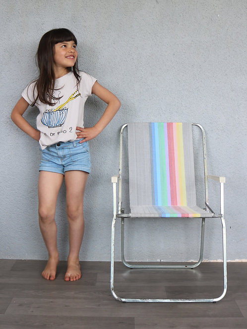 Chaise de camping rainbow