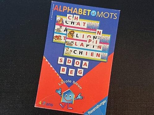 Alphabet et mot - l'école bleue