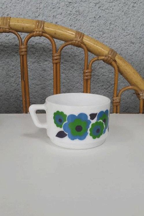 Tasse à café Lotus bleue