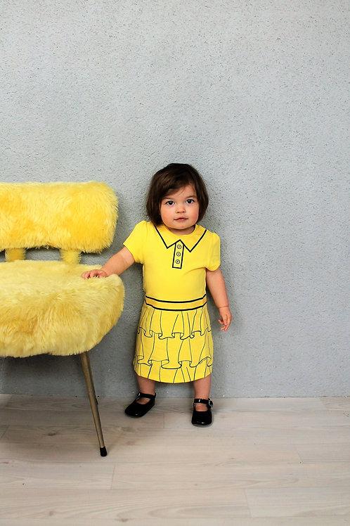 Chaise moumoute jaune poussin