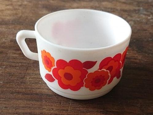 Tasse à chocolat lotus rouge