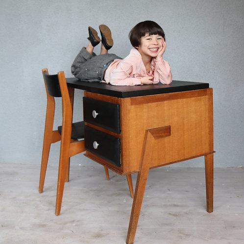 Bureau et chaise Skaï & Wood