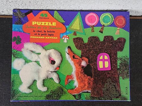 Puzzle le chat la belette et le petit lapin