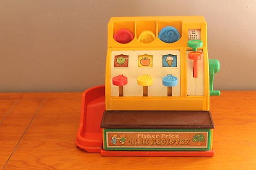 Caisse enregistreuse Fisher Price 1974