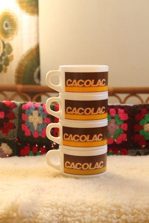 4 tasses à chocolat Cacolac