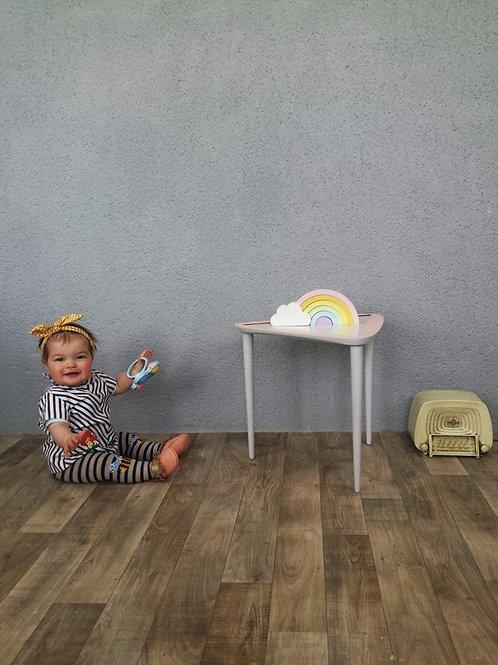 Petite table tripode bois et formica
