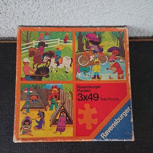 """3 puzzles """"jeux de plein air"""""""