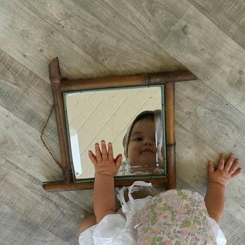 Petit miroir biseauté bambou