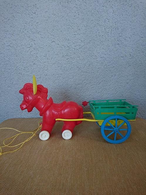 Petit âne à tirer et sa carriole