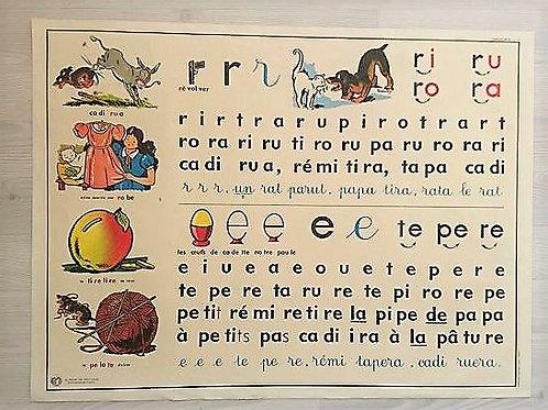 Carte scolaire apprentissage de la lecture : Lettres R, A et P