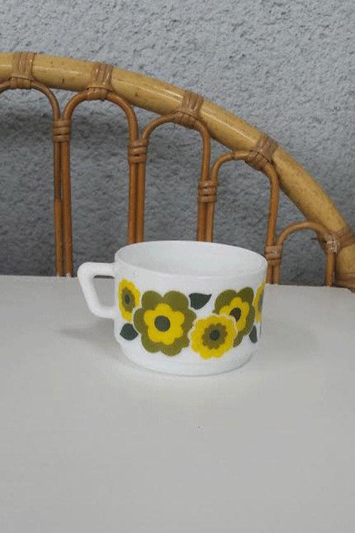 Tasse à café Lotus jaune