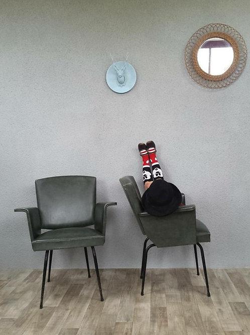 Paire de fauteuils rockabilly 60's