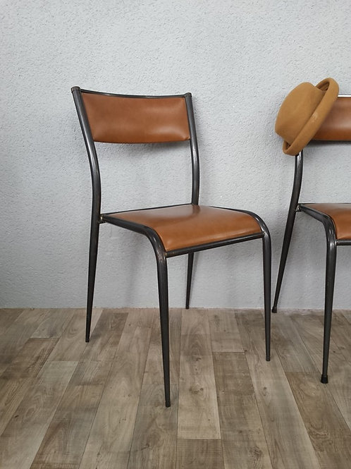 Chaise mullca 510 métal et simili cuir