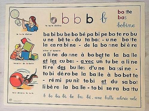 Carte scolaire apprentissage de la lecture :Lettres B et F