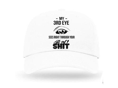 White Flex Hat- SHIT