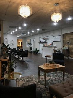 Salon space from waiting area
