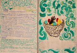 Visual art process diary