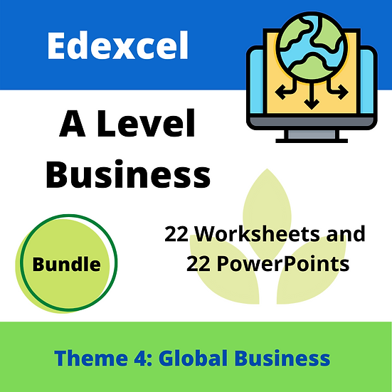 Edexcel A Level business Theme 4 only teaching resources pack