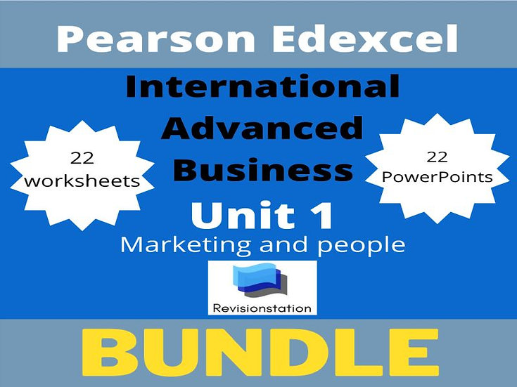 International A Level Edexcel Teaching Resources Unit 1 Only