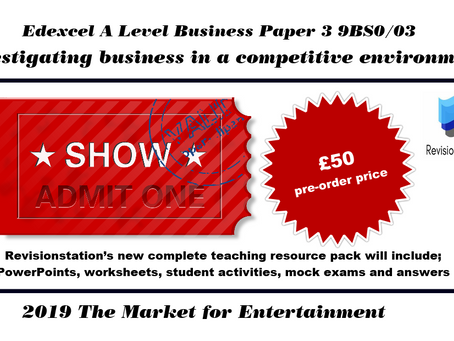Edexcel A Level Business paper 3 2019 is the entertainment industry